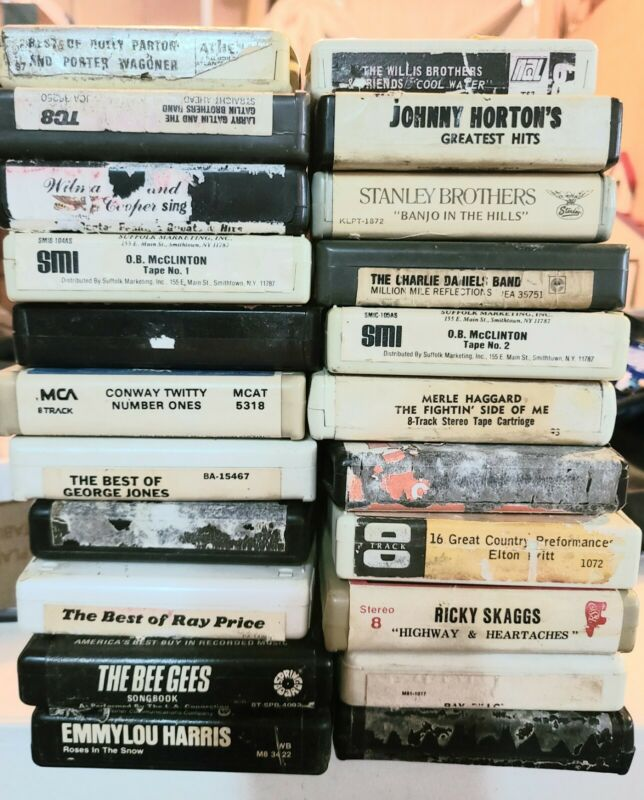 Lot Of 22 8-track Tapes