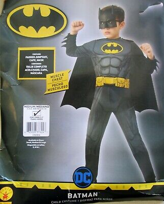 New child's DC BATMAN padded complete Costume Halloween Rubies