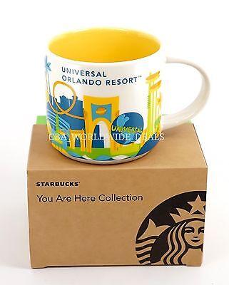 New Universal Studios Orlando Starbucks YAH You Are Here Coffee Mug Cup 2016