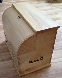 Wooden curved top tool/storage box