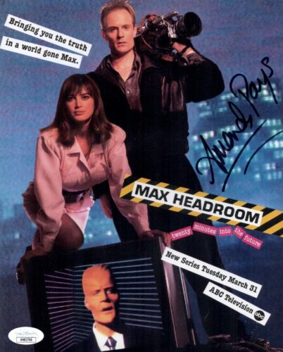 AMANDA PAYS Signed MAX HEADROOM 8x10 Photo IN PERSON Autograph THE FLASH JSA COA