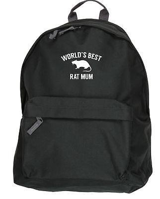 World's best rat mum backpack ruck sack Size: