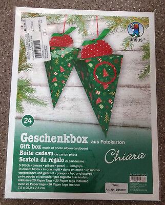 Bastelset Geschenkboxen aus Fotokarton Chiara Schachteln Basteln Ursus  DIY NEU ()