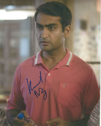 KUMAIL NANJIANI SIGNED AUTHENTIC 'SILICON VALLEY' 8x10 PHOTO B w/COA TV ACTOR