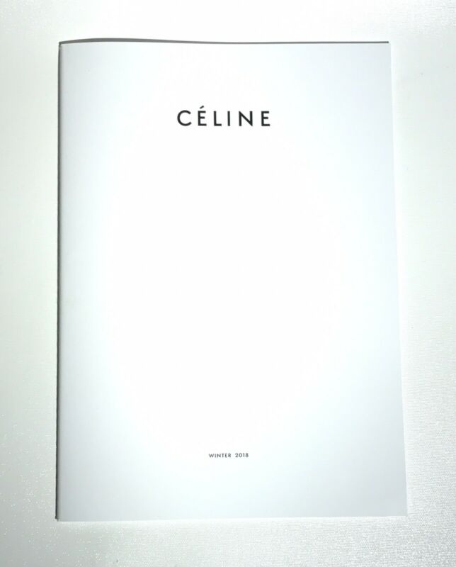 CELINE Winter 2018 Lookbook Fashion Catalog Magazine Book
