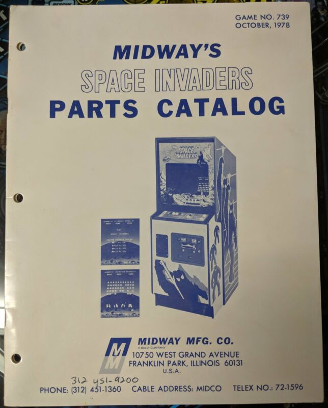 Space Invaders - Midway - Manual - Schematics - Instructions - Book - Original
