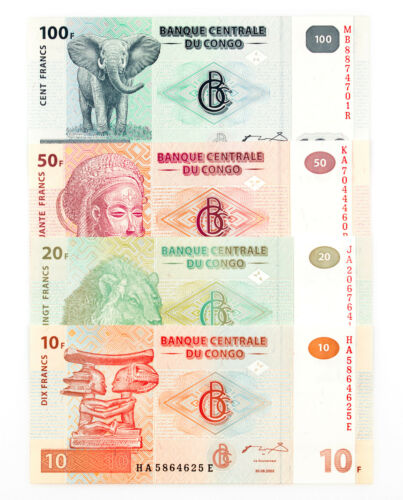 Set of 4 diff. Congo DR 2000
