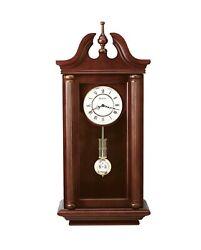 Bulova Manchester Solid Wood Walnut Finish Pendulum Chiming Mantle Clock C4456