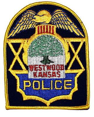 WESTWOOD KANSAS KS Police Sheriff Patch LARGE OAK TREE VINTAGE OLD MESH ~
