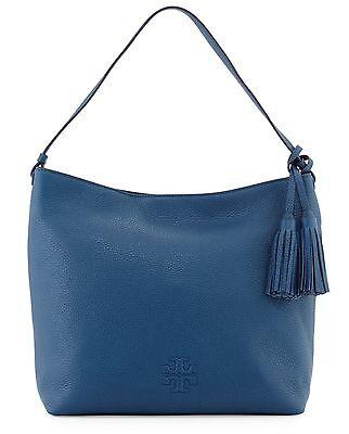 NWT TORY BURCH $475 TIDAL WAVE BLUE THEA HOBO BAG