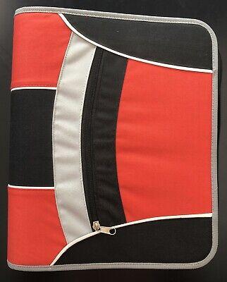 Lg 12x 14 3 Ring Binder W Plastic Sleeves- Fabric W Zipper Close