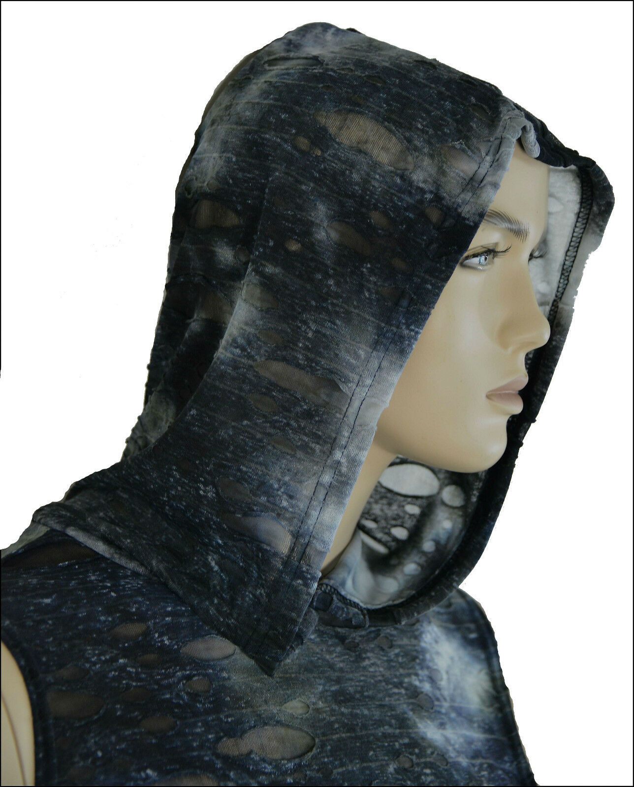 SHRINE CYBER GOTHIC RAVE RAVE BURNING MAN TECHNO ZOMBIE DECAYED SHIRT HOODIE Activewear
