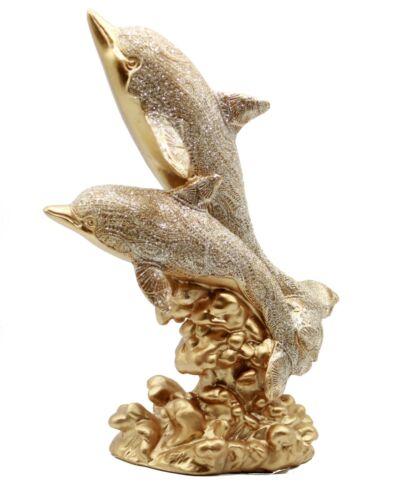 "10.5"" Marine Life Dolphin Statue Figurine Figure Sea Ocean Nautical Decor"