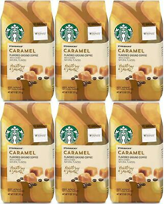PACK OF 6 Starbucks Caramel Ground Coffee (11 oz. ea) BEST BEFORE FEBRUARY 2020