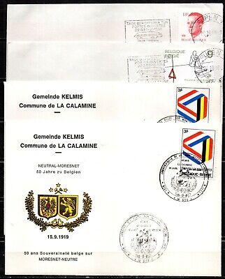 Lot de 4 lettres de LA CALAMINE - oblitérations spéciales.