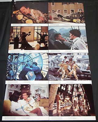 1979 James Bond 007 Moonraker Press Photos 8pc NM Roger Moore Richard Kiel