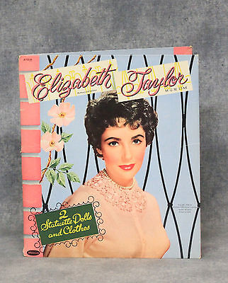 Vintage 1954 Whitman Elizabeth Taylor Paper Doll Set With Outfits, Cut-Out