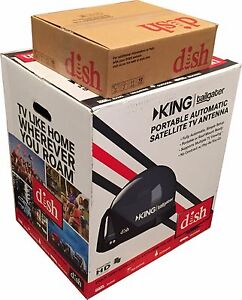Dish Network King Tailgater Bundle Portable Satellite HD Receiver VQ4510