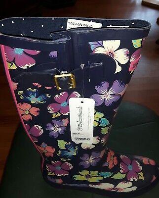 Urban Beach Gummistiefel für Damen, Größe 4, dunkelblau - Blaue Stiefel Für Damen