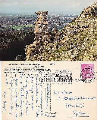1972 THE DEVILS CHIMNEY LECKHAMPTON GLOUCESTERSHIRE COLOUR POSTCARD
