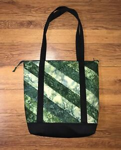 Beautiful Quilted Tote Bag in Greens