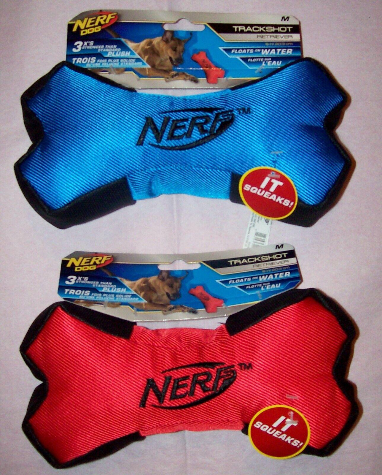 New Nerf Medium Trackshot Retriever Bone Floating Dog Pet To
