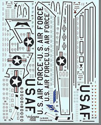 Warbird B-52 Stratofortress Walkway, Stencil, Common Marking Decals 1/72 020