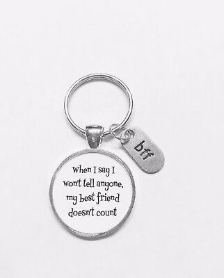 Best Friend Keychain My Best Friend Doesn't Count Christmas Gift For