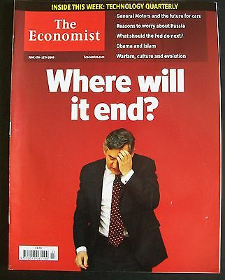 The Economist Magazine. June 6th - 12th, 2009. Volume 391. Number 8634.