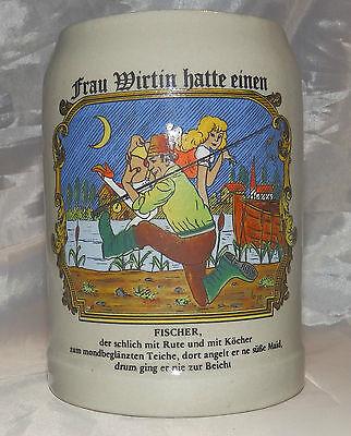 Bierkrug Frau Wirtin hatte einen Fischer Bier Krug Erotik Spruch Sammelauflösung