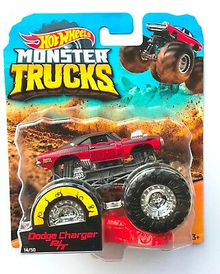 Hot Wheels Monster Trucks  DODGE CHARGER R/T  With Crushable Car Rare !!