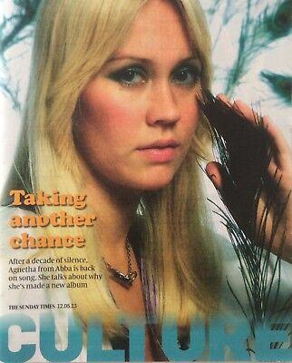 AGNETHA FALTSKOG in UK Culture Magazine 2013 *ABBA A Mamma Mia SOS Dancing Queen
