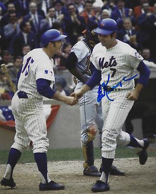 - Ed Kranepool Autographed Signed 8x10 Photo - W/COA MLB 1969 NY Mets World Champs