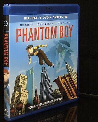 Phantom Boy Blu-ray + DVD No Digital Fred Armisen Animated Fantasy VERY GOOD