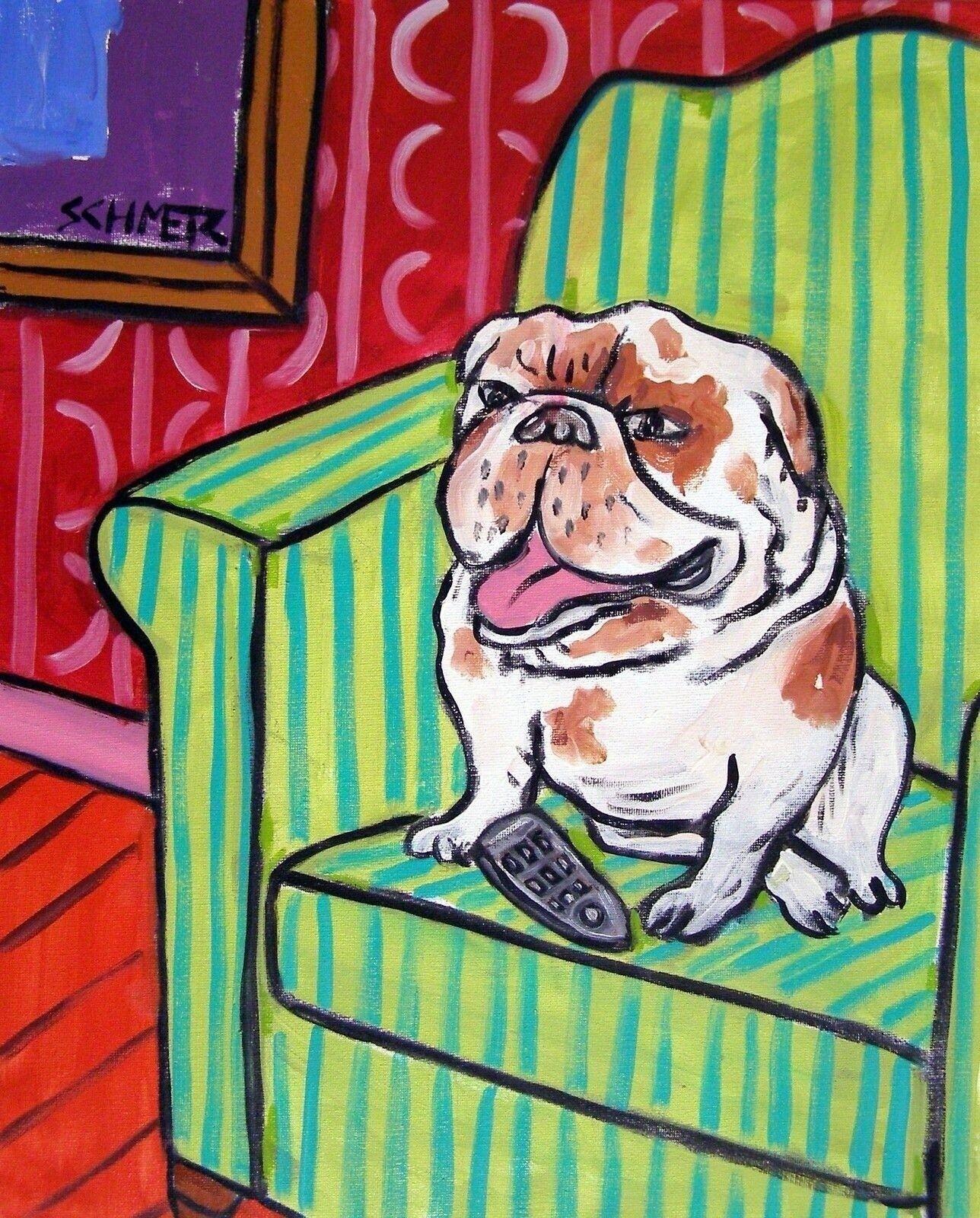 BOSTON TERRIER dog wine 8x10  art PRINT animals gift  impressionism