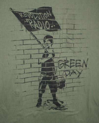 Retro Green Day Band Revolution Radio Rock Concert Tour T-Shirt New Sz Large