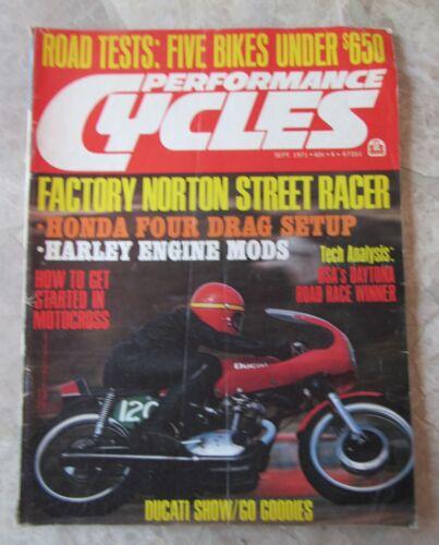 Vintage Performance CYCLES Magazine - September 1971