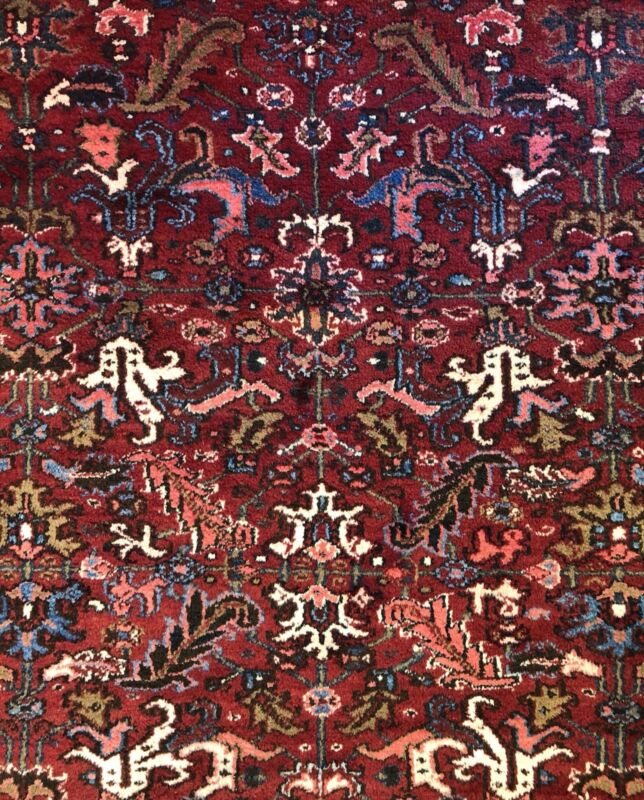 Terrific Tribal - 1920s Antique Oriental Rug - Nomadic Carpet - 7.2 X 10 Ft.