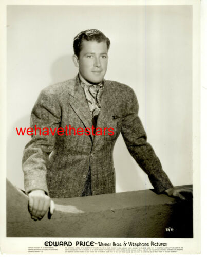 VINTAGE Edward Price HANDSOME 30s WB ACTOR Publicity Portrait