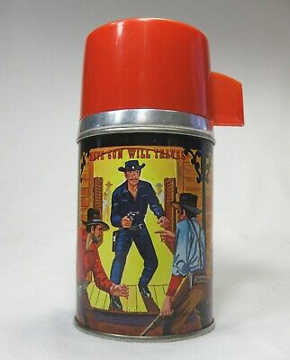 1960 Paladin Have Gun Will Travel Thermos Only NM Near mint Clean and Shiny