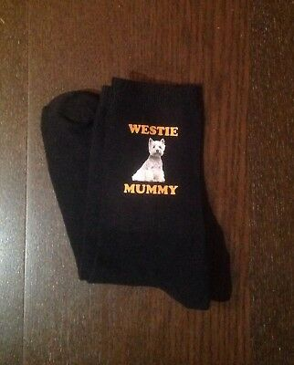 GIFT BOXED WESTIE MUMMY SOCKS BIRTHDAY CHRISTMAS PRESENT WEST HIGHLAND TERRIER