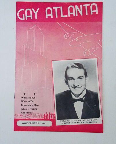 Gay Atlanta Brochure 1950,Jerry Farber, Charles Fuller, Vol 13 Number 35 Club 26