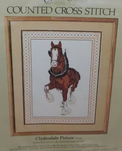 Something Special CLYDESDALE Horse Counted Cross Stitch Kit New