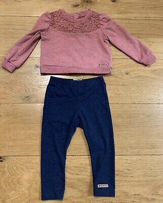 Baby Girl Jumper And Leggings Set. Age 18 Months. Hudson. Good Condition