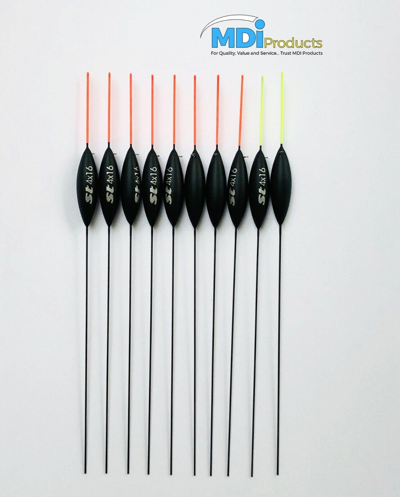 "Pack of 5 Shakespeare Superteam Pole Floats 4x16 ST9 Carbon Stem 5.5/"" 14cm"