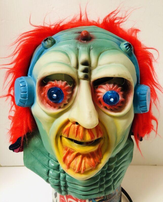 Vintage Fun World Halloween Mask Flashing Eyes Alien Space Man Sci Fi Taiwan