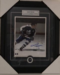 Dave Keon Toronto Maple Leafs Photo Framed Autographed