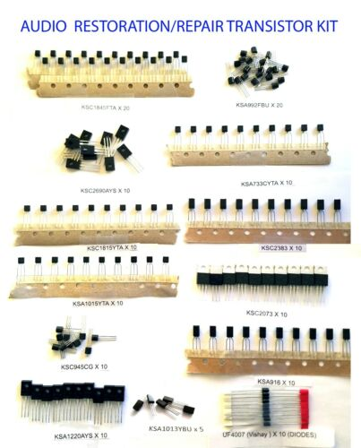 165pc Audio Repair Transistor Kit-Replacement for 100+ different devices!