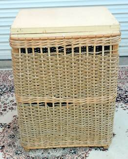 Vintage Seagrass Laundry Basket.