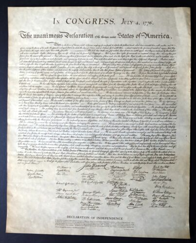 Declaration Of Independence Replica From National Archives
